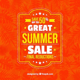 Fondo vintage de ofertas de verano