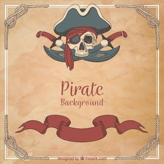 Fondo vintage de pirata