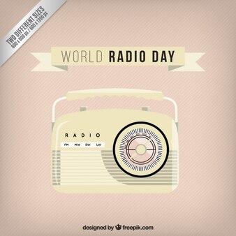 Fondo vintage de radio bonita