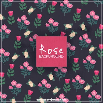 Fondo vintage de rosas decorativos