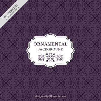 Fondo violeta ornamental