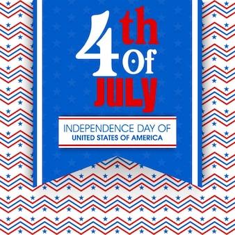 Fondo zigzag para el día de la independencia de eeuu