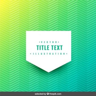 Fondo zigzag verde con etiqueta