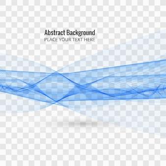 Forma azul ondulada sobre fondo transparente