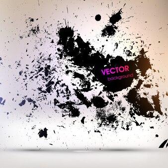 Forma negro decoración blot splat