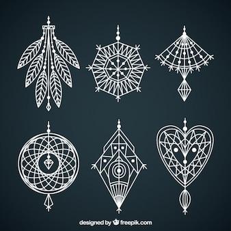 Formas geométricas de elementos boho