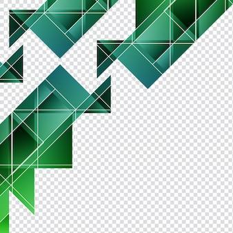 Formas geométricas verdes para fondos