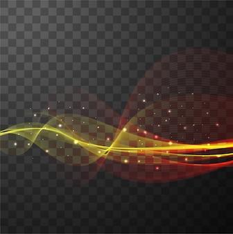 Formas onduladas con efecto de luz
