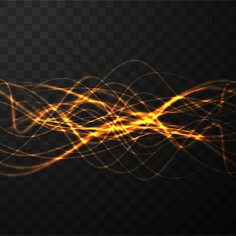 Formas onduladas, luces de neón