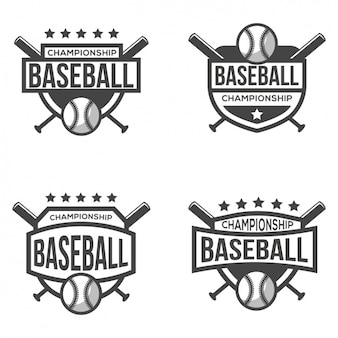 Four logos for baseball