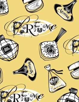 Frascos de perfume drenados mano