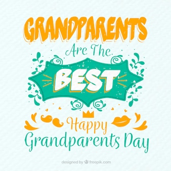Frase del día de los abuelos en estilo vintage
