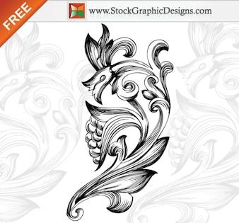 Free Vector Ornamental elementos florales