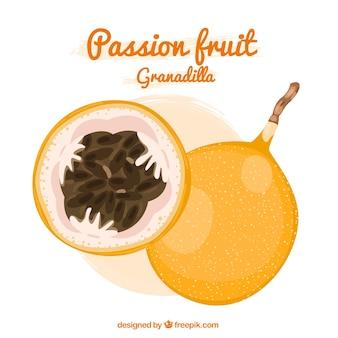 Fruta de la pasión granadilla