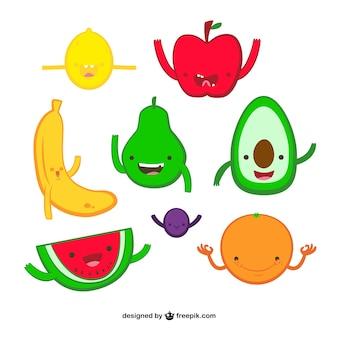 frutas de dibujos animados
