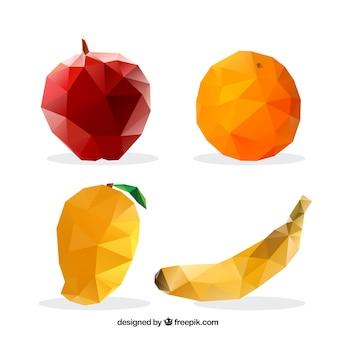 Frutas poligonales