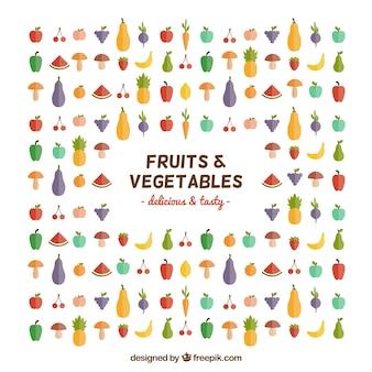 Frutas y hortalizas iconos