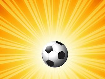 Fútbol en un fondo brilloso de rayos