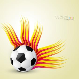 Fútbol estilo abstracto retro