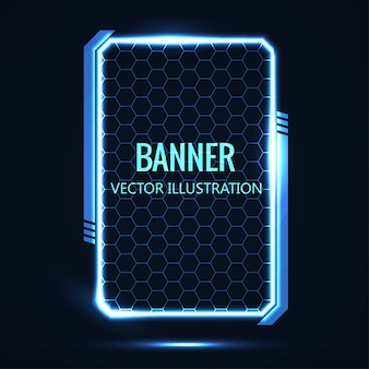 Futurista brillante ilustración vectorial de fondo