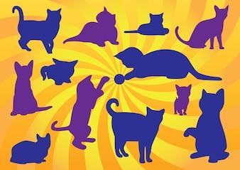 gatito vectores