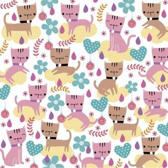 Gatos lindos ilustración