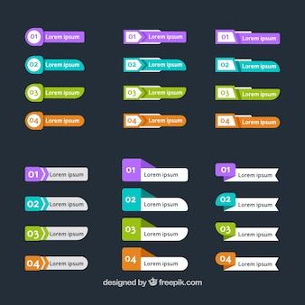Genial colección de banners infográficos con variedad de diseños
