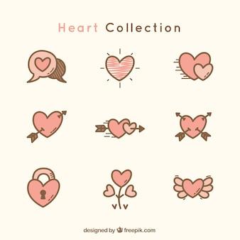 Genial colección de corazones