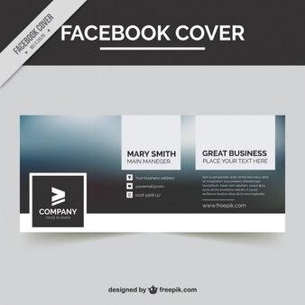 Genial cubierta de facebook con fondo borroso