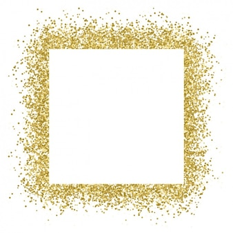 Genial marco con confeti dorado