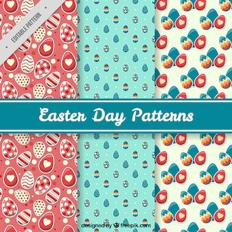 Genial pack de tres patrones de pascua con huevos decorativos