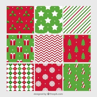 Genial paquete con nueve patrones de navidad