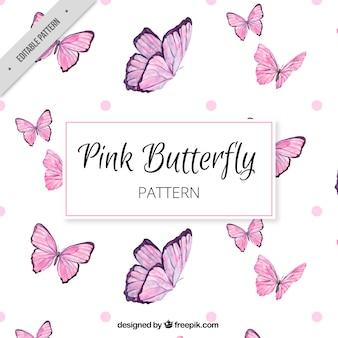 Genial patrón de mariposas rosas