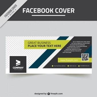 Genial portada de facebook con diseño geométrico