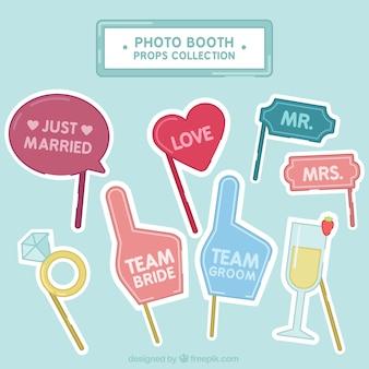 Geniales elementos de cabina fotográfica para bodas