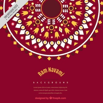 Geométrico fondo ornamental Ram Navami