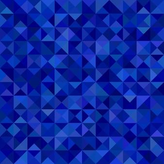 Geométrico triángulo abstracto mosaico patrón de fondo - gráfico vectorial de triángulos en tonos azules