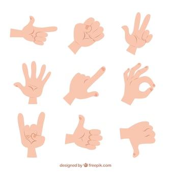 Gestos con las manos ilustrados