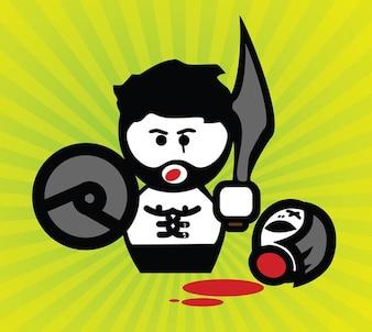 gladiador de dibujos animados