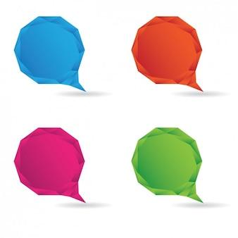 Globos de diálogo a color