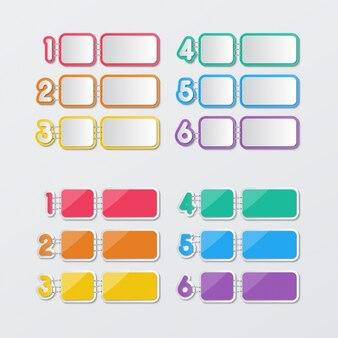 Globos de texto con dos cuadrados