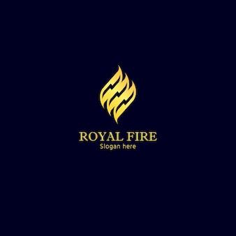 Golden Fire concepto de logotipo para la marca exclusiva y servicios