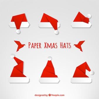 gorros de navidad de papel