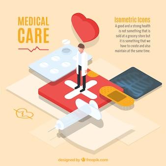 Gráfico moderno de cuidado médico