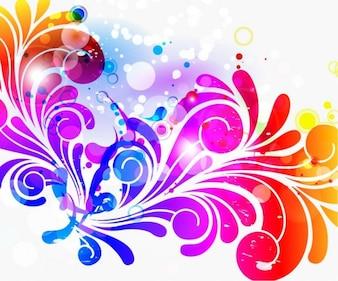 Gráficos colorido diseño de logotipo vectorial