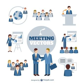 Gráficos vectoriales reunión de negocios