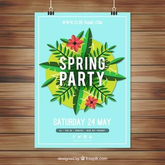 Gran cartel floral de la fiesta de la primavera