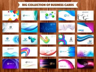Gran colección de tarjetas profesionales.