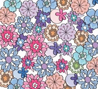 gratuita de flores vector patrón