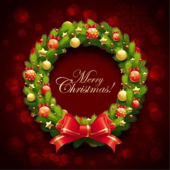 guirnalda de la Navidad ilustración vectorial